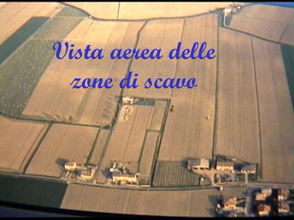 Vista aerea delle zone di scavo