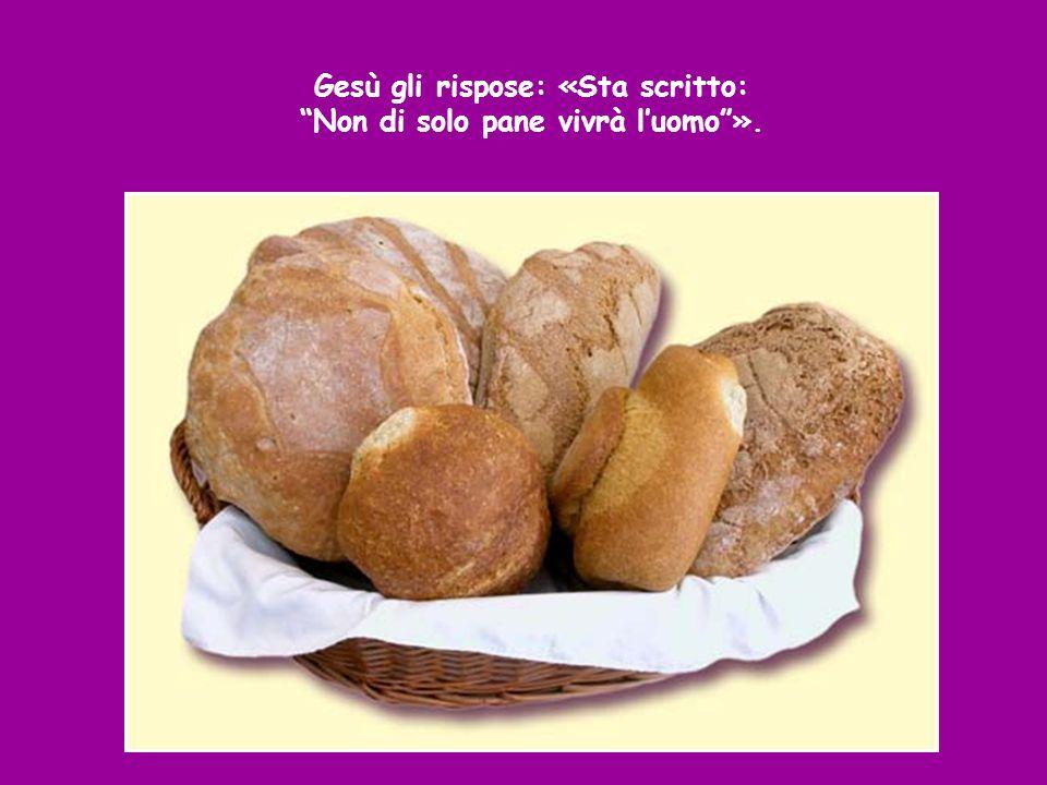 Allora il diavolo gli disse: «Se tu sei Figlio di Dio, di a questa pietra che diventi pane».