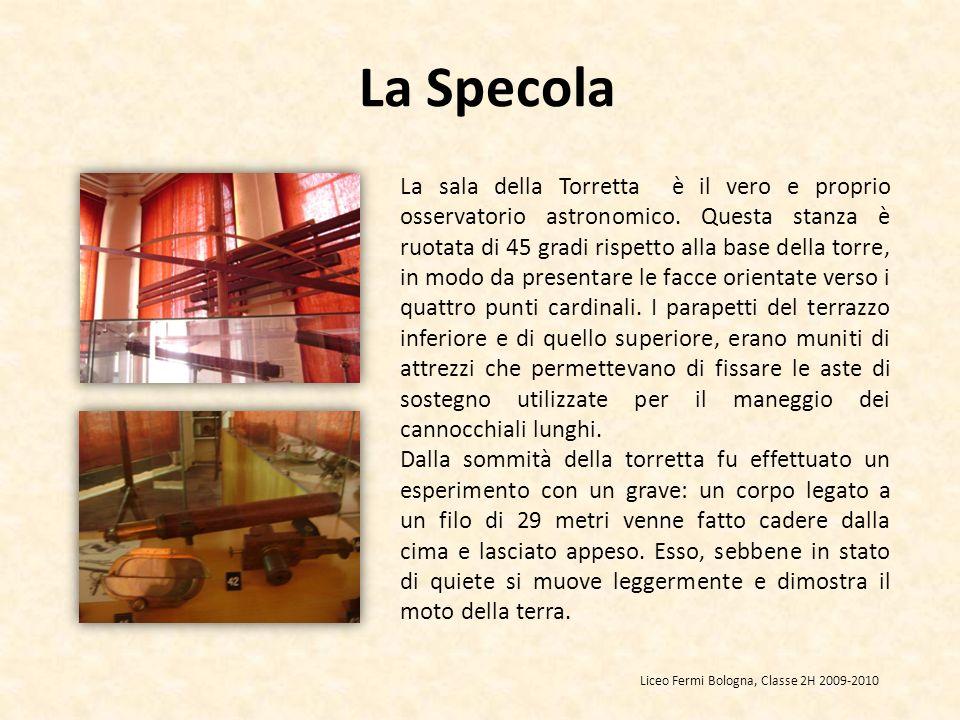 La sala della Torretta è il vero e proprio osservatorio astronomico. Questa stanza è ruotata di 45 gradi rispetto alla base della torre, in modo da pr