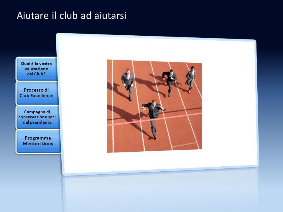 Aiutare il club ad aiutarsi Qual è la vostra valutazione del Club.