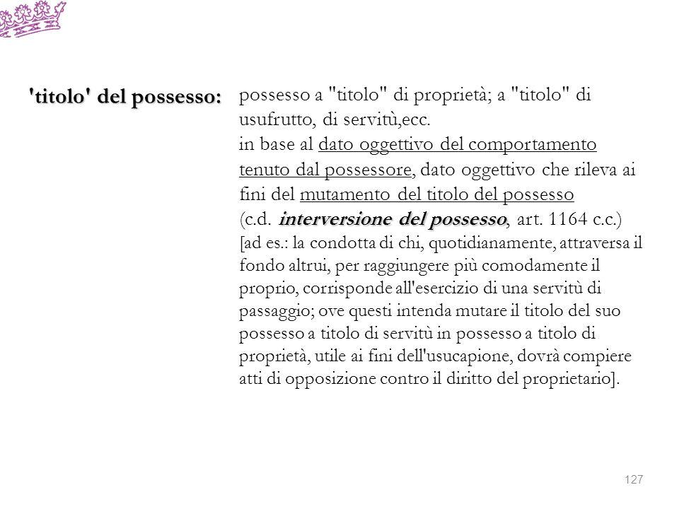 Rilevanza del possesso: due ordini di garanzie: a)tutela giurisdizionale del possesso: ratio: 1)c.dd.