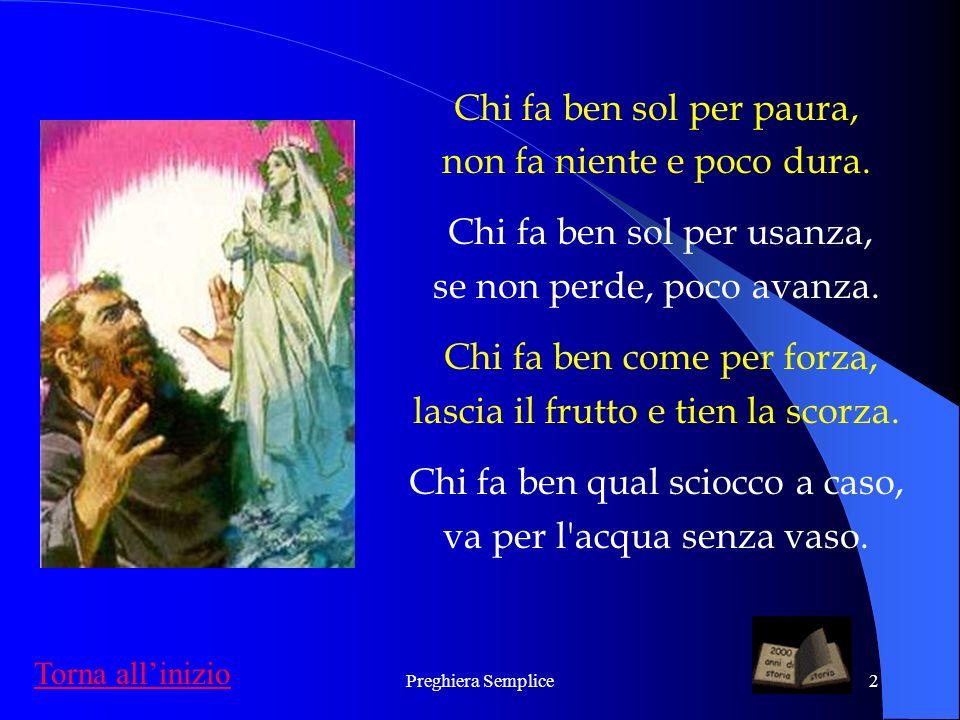 Preghiera Semplice1 San Giuseppe da Copertino realizzato da Franco Maria Boschetto Cantico del bene