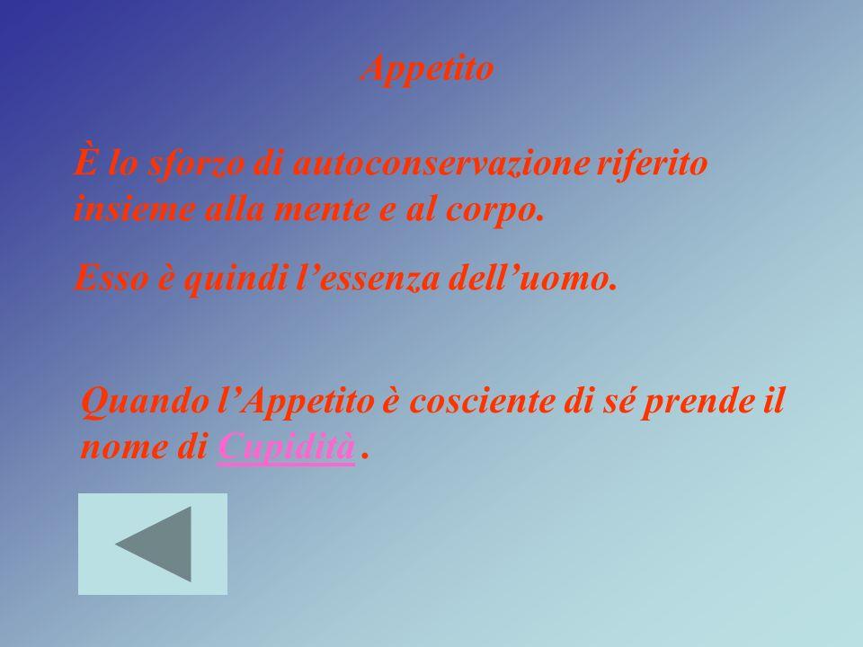 Appetito & Cupidità LetiziaTristezza