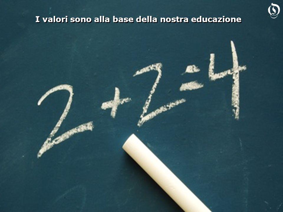 I valori sono alla base della nostra educazione O