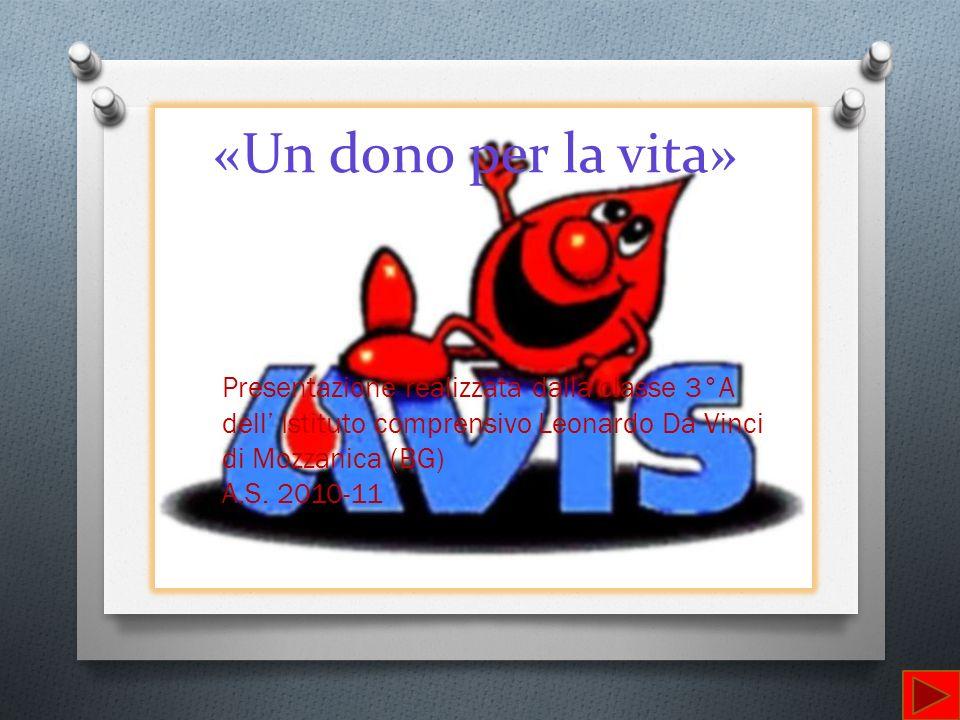 Presentazione realizzata dalla classe 3°A dell Istituto comprensivo Leonardo Da Vinci di Mozzanica (BG) A.S. 2010-11 «Un dono per la vita»