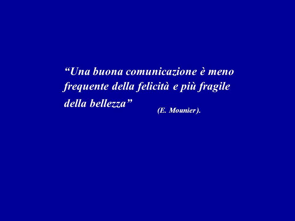 Una buona comunicazione è meno frequente della felicità e più fragile della bellezza (E. Mounier).