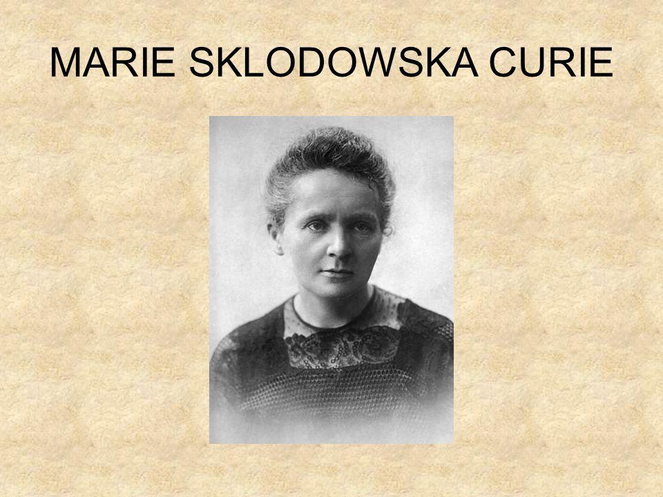 Biografia Marie Curie nasce il 7 novembre 1867 a Varsavia da una famiglia cattolica e numerosa.