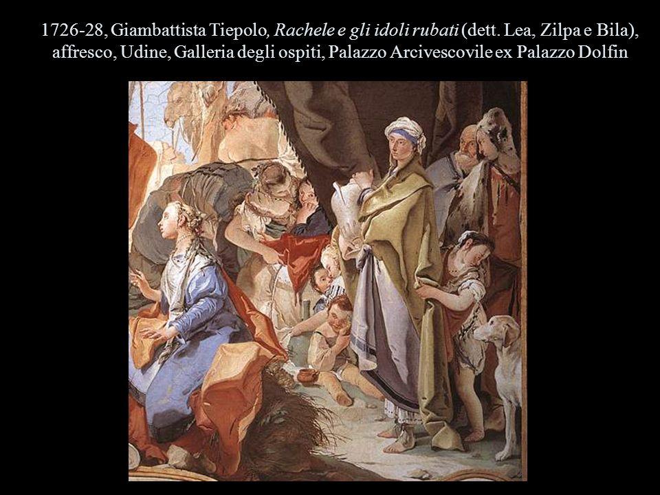1726-28, Giambattista Tiepolo, Rachele e gli idoli rubati (dett. Lea, Zilpa e Bila), affresco, Udine, Galleria degli ospiti, Palazzo Arcivescovile ex