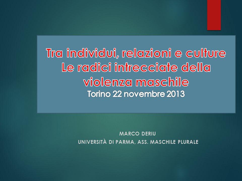 Una panoramica in Italia Carcere di Bollate a Milano (2006) – Centro Italiano per la promozione della mediazione Sportello telefonico per lascolto del disagio maschile (2009) – Prov.