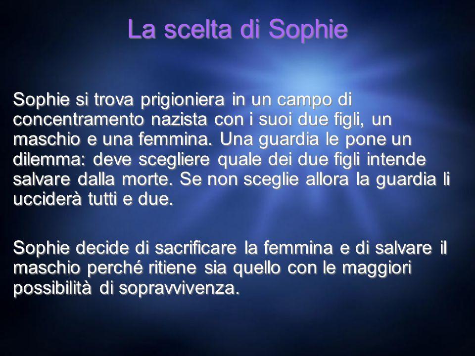 La scelta di Sophie Sophie si trova prigioniera in un campo di concentramento nazista con i suoi due figli, un maschio e una femmina. Una guardia le p