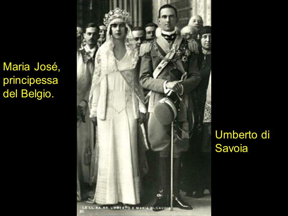 Maria José, principessa del Belgio. Umberto di Savoia