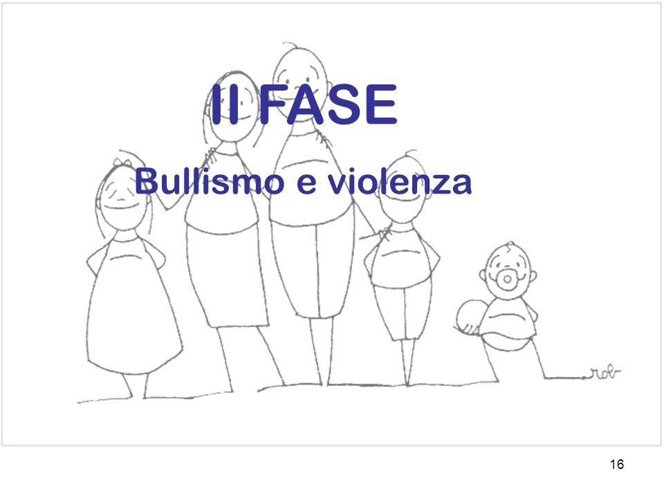 16 II FASE Bullismo e violenza