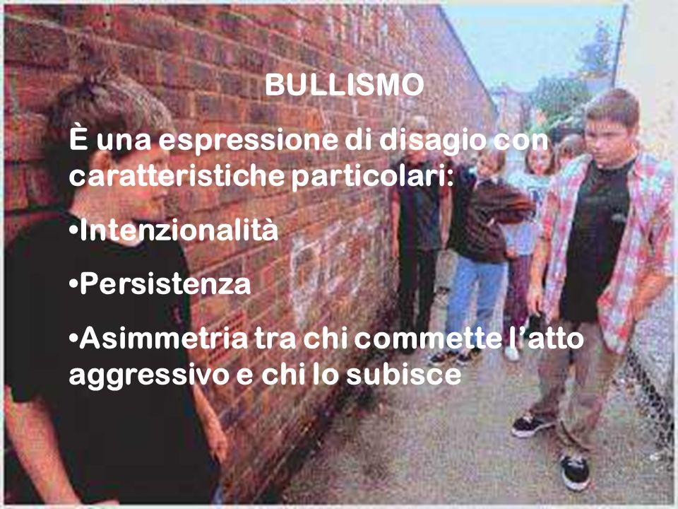 27 BULLISMO È una espressione di disagio con caratteristiche particolari: Intenzionalità Persistenza Asimmetria tra chi commette latto aggressivo e ch