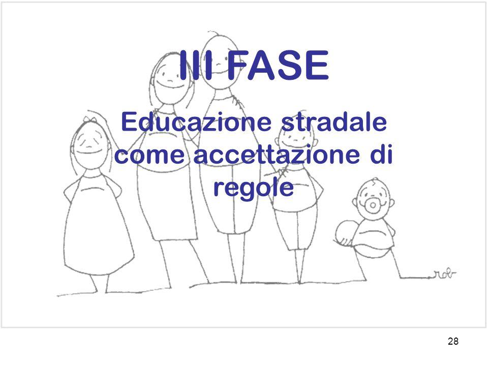 28 III FASE Educazione stradale come accettazione di regole