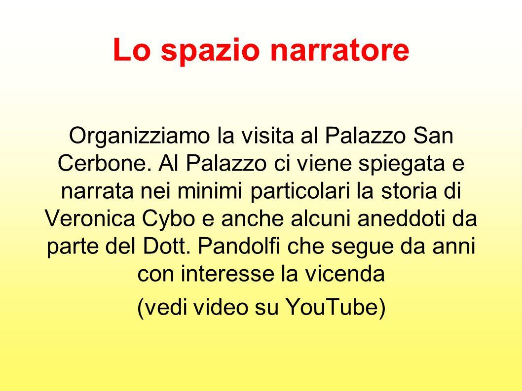 Lo spazio narratore Organizziamo la visita al Palazzo San Cerbone. Al Palazzo ci viene spiegata e narrata nei minimi particolari la storia di Veronica