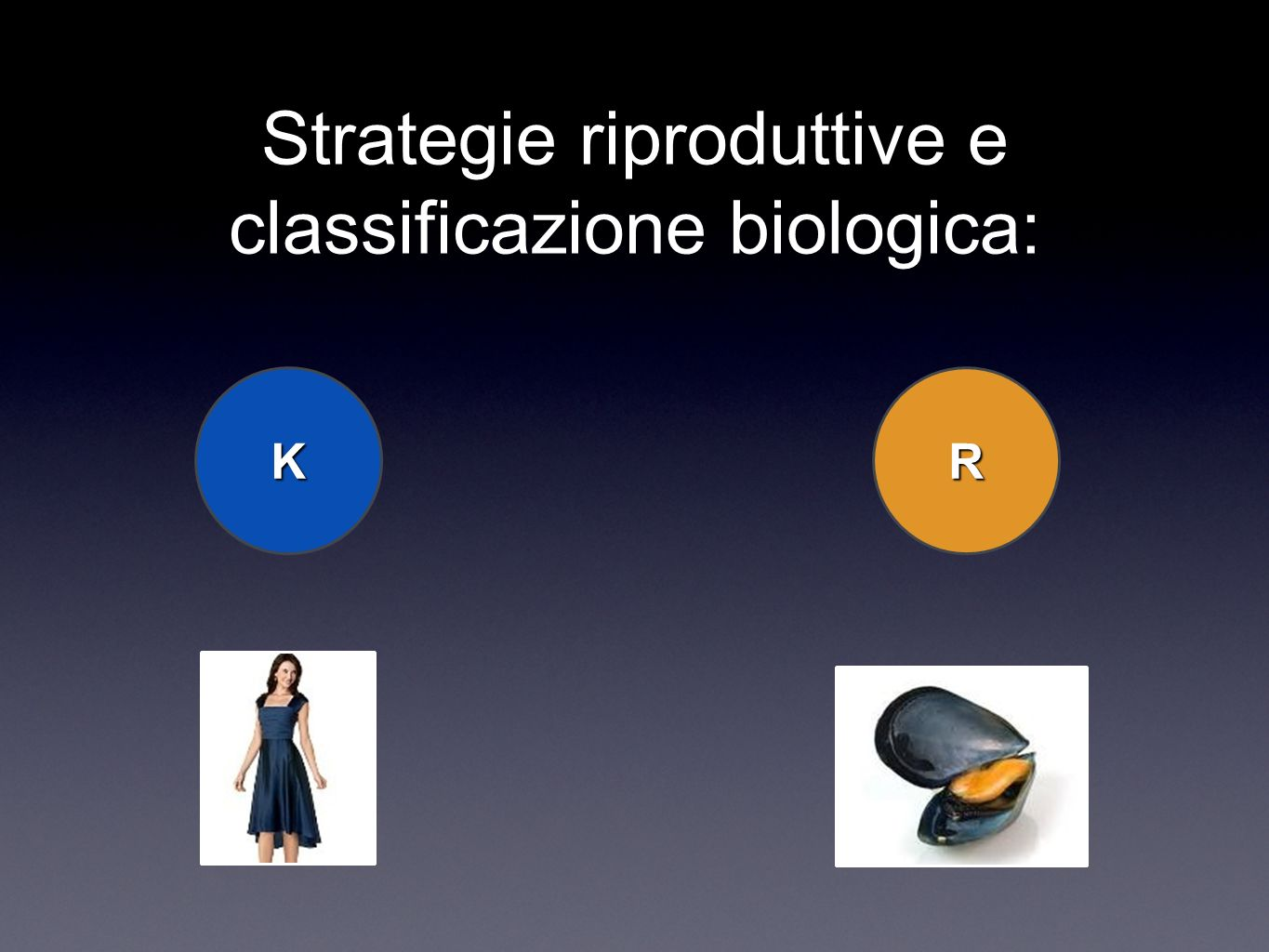 Strategie riproduttive e classificazione biologica: KR
