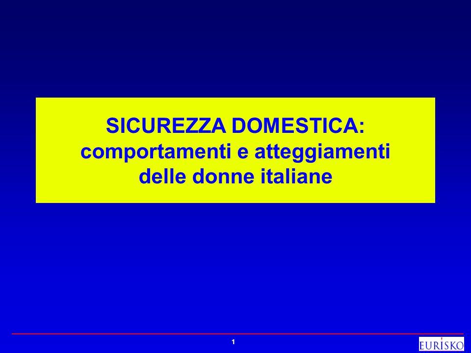 1 SICUREZZA DOMESTICA: comportamenti e atteggiamenti delle donne italiane