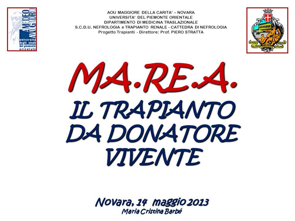 Attività di trapianto - Relazione donatore - ricevente Sistema Informativo Trapianti RENE vivente 2001 - 2012