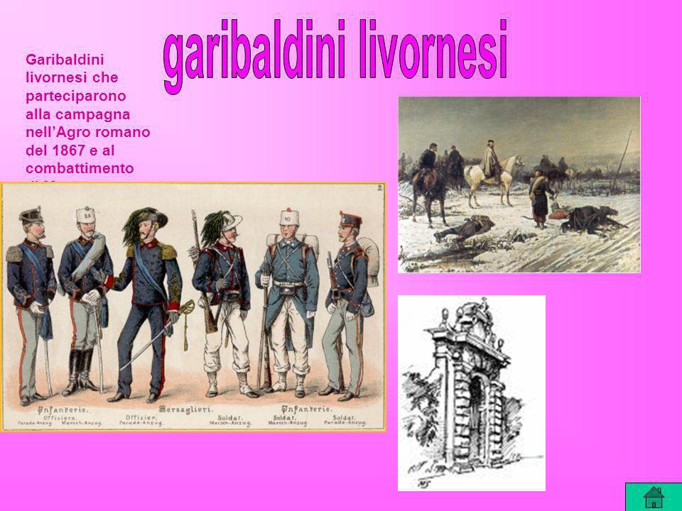 Garibaldini livornesi che parteciparono alla campagna nellAgro romano del 1867 e al combattimento di Mentana