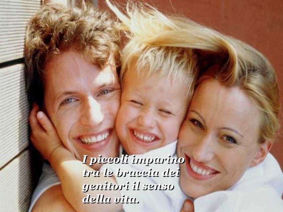 I piccoli imparino tra le braccia dei genitori il senso della vita. I piccoli imparino tra le braccia dei genitori il senso della vita.