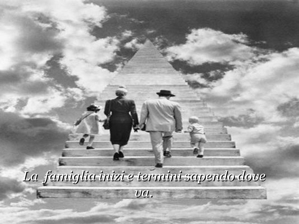 La famiglia inizi e termini sapendo dove va. La famiglia inizi e termini sapendo dove va.