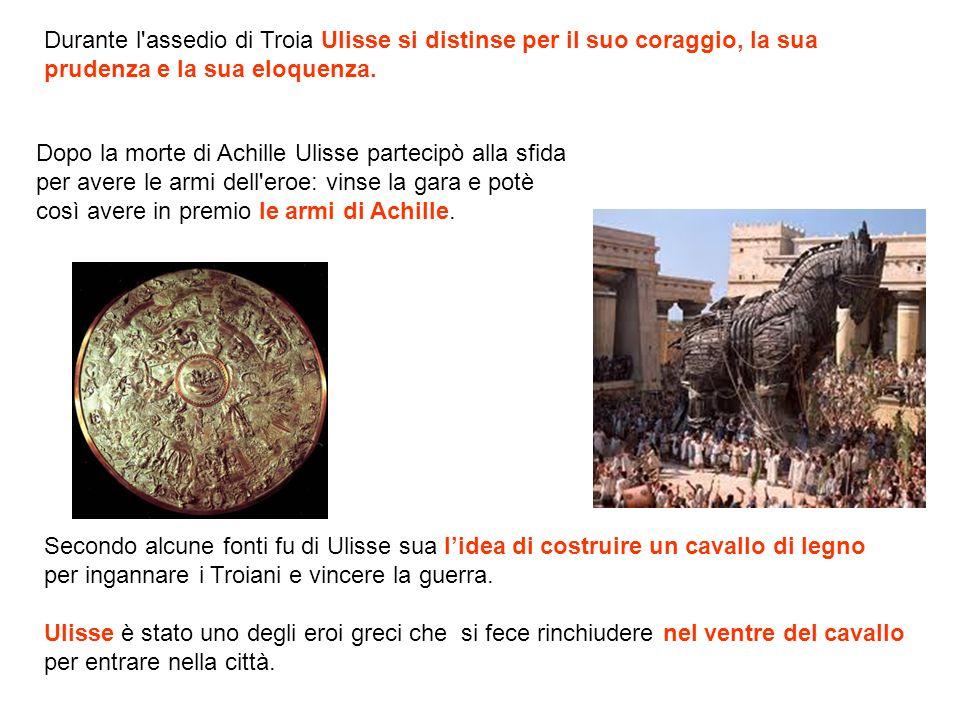 Dopo la morte di Achille Ulisse partecipò alla sfida per avere le armi dell'eroe: vinse la gara e potè così avere in premio le armi di Achille. Second