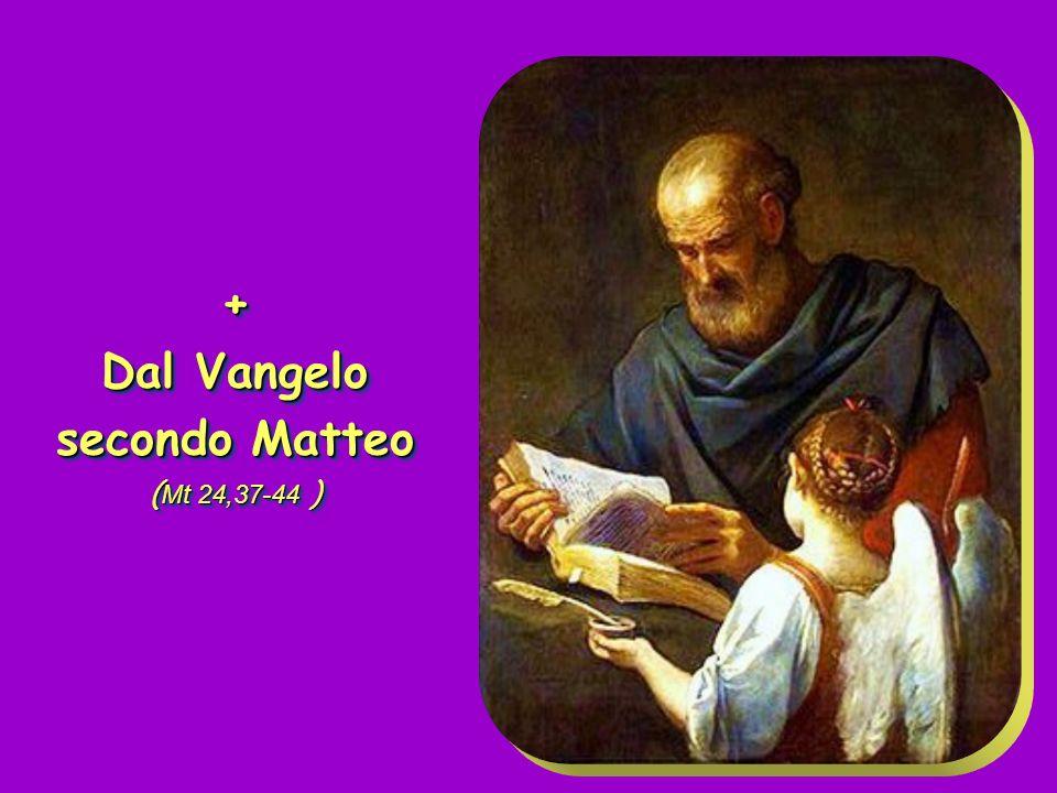 + Dal Vangelo secondo Matteo ( Mt 24,37-44 ) + Dal Vangelo secondo Matteo ( Mt 24,37-44 )