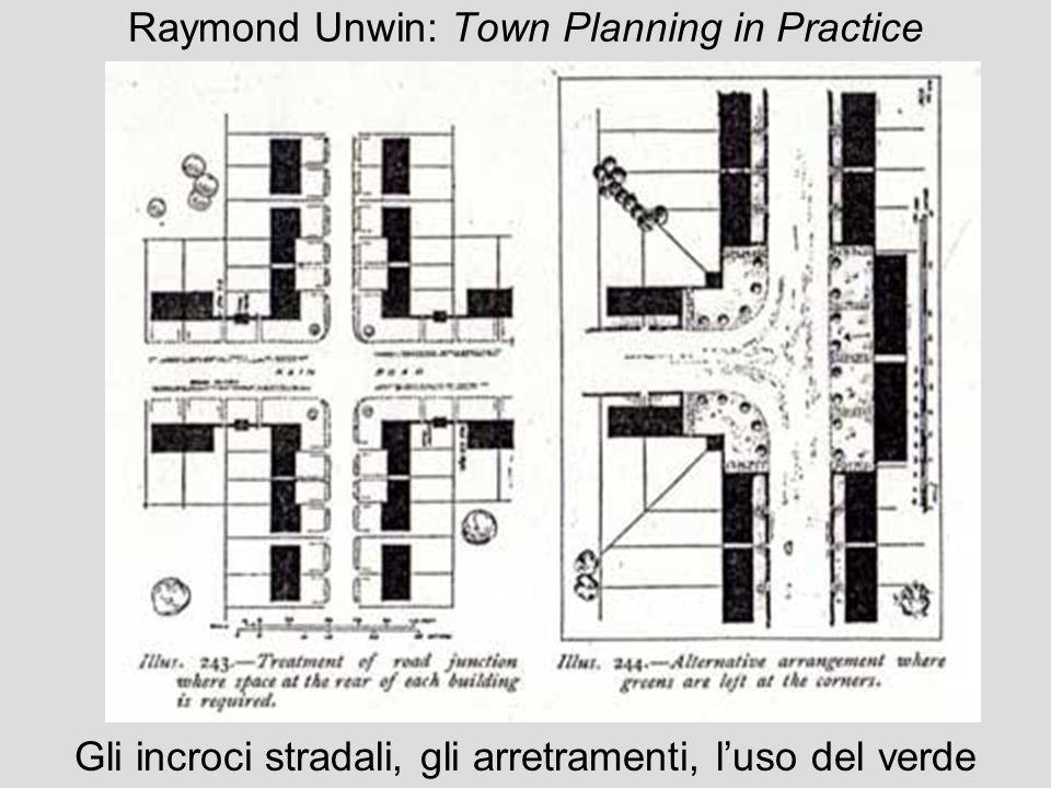 Raymond Unwin: Town Planning in Practice Gli incroci stradali, gli arretramenti, luso del verde