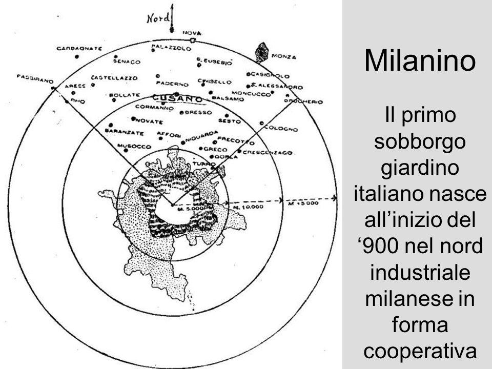 Milanino Il primo sobborgo giardino italiano nasce allinizio del 900 nel nord industriale milanese in forma cooperativa