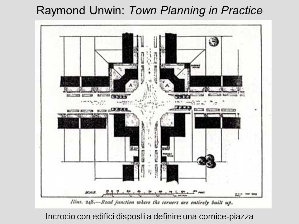 Raymond Unwin: Town Planning in Practice Incrocio con edifici disposti a definire una cornice-piazza