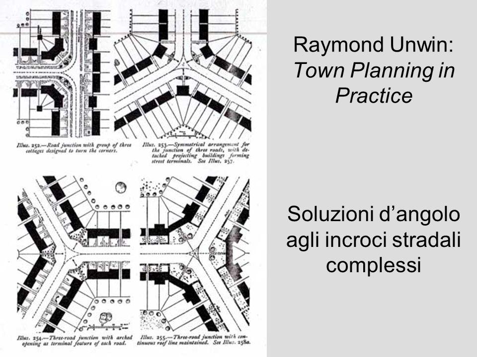 Raymond Unwin: Town Planning in Practice Soluzioni dangolo agli incroci stradali complessi