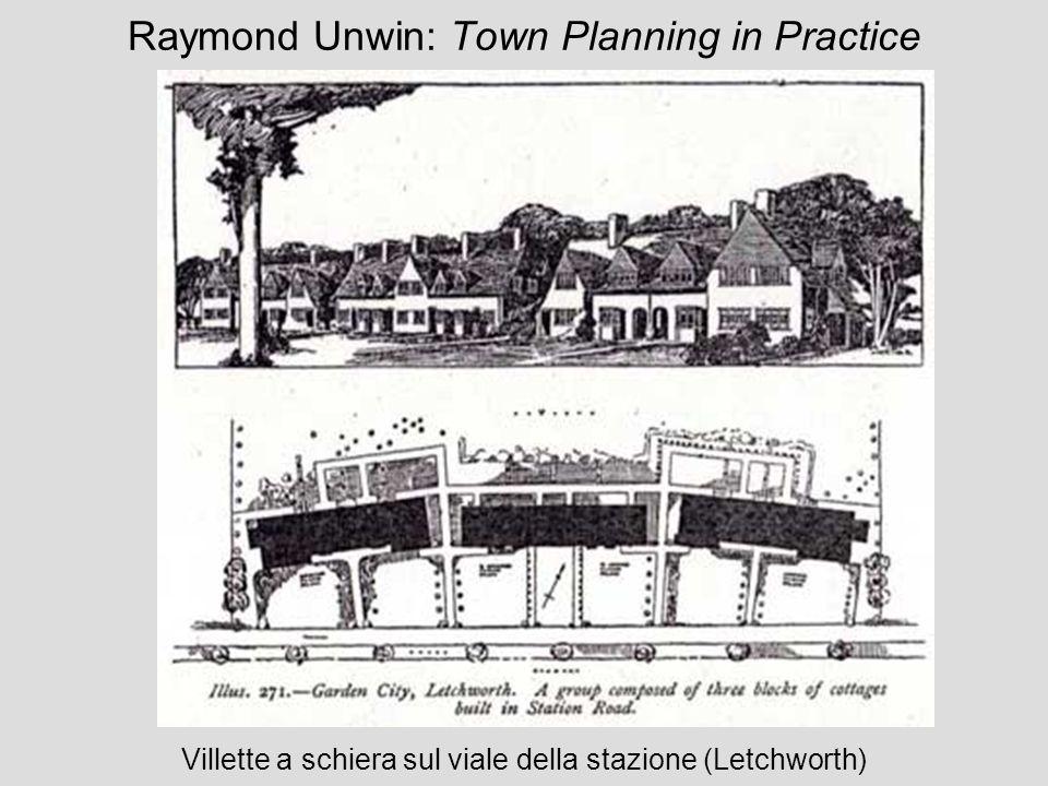 Raymond Unwin: Town Planning in Practice Villette a schiera sul viale della stazione (Letchworth)