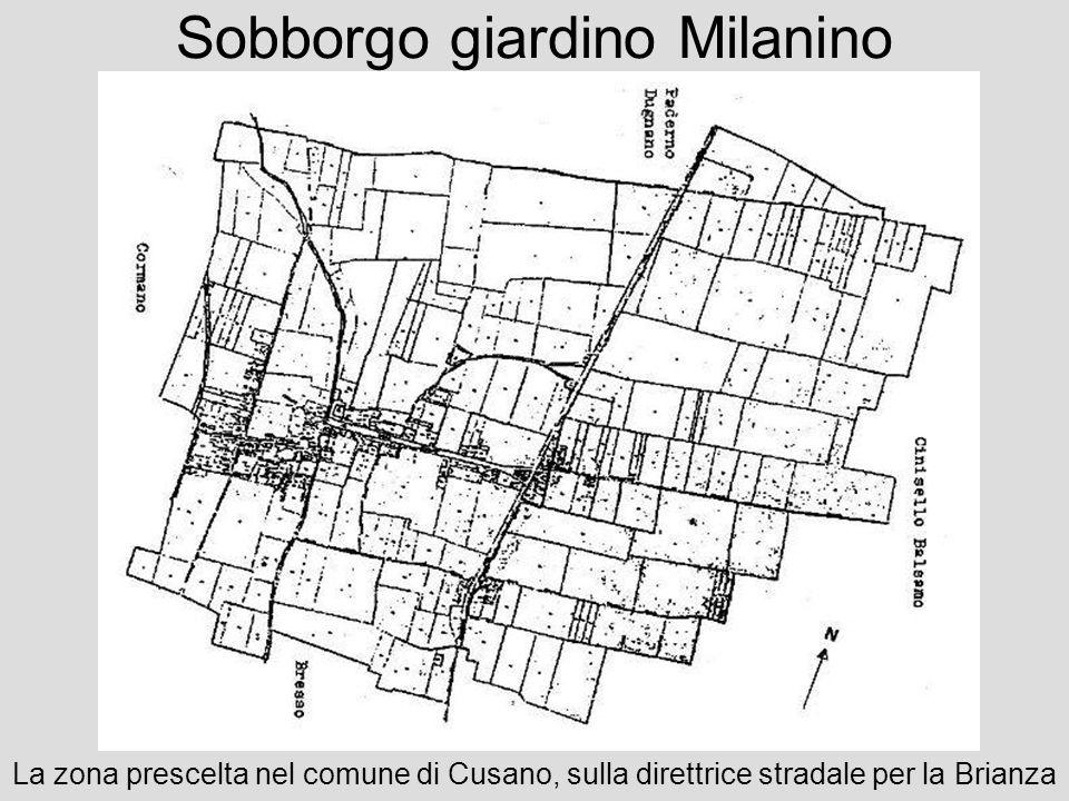 Sobborgo giardino Milanino La zona prescelta nel comune di Cusano, sulla direttrice stradale per la Brianza