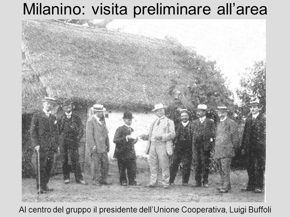 Milanino: visita preliminare allarea Al centro del gruppo il presidente dellUnione Cooperativa, Luigi Buffoli