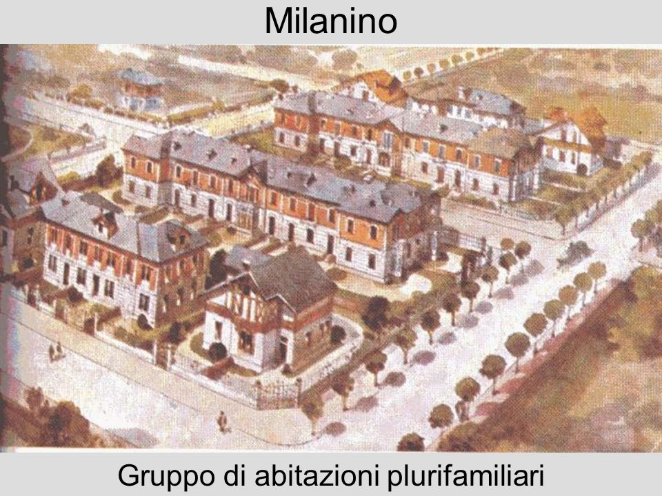 Milanino: veduta Immagine aerea del sobborgo giardino negli anni Venti