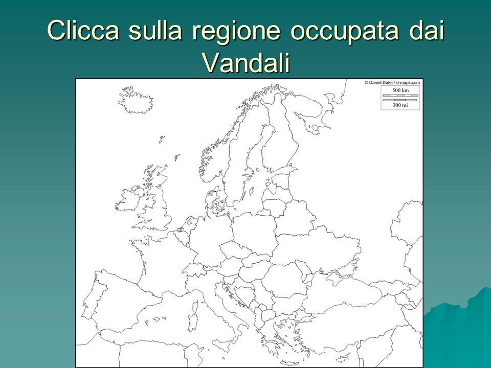 Clicca sulla regione occupata dai Vandali