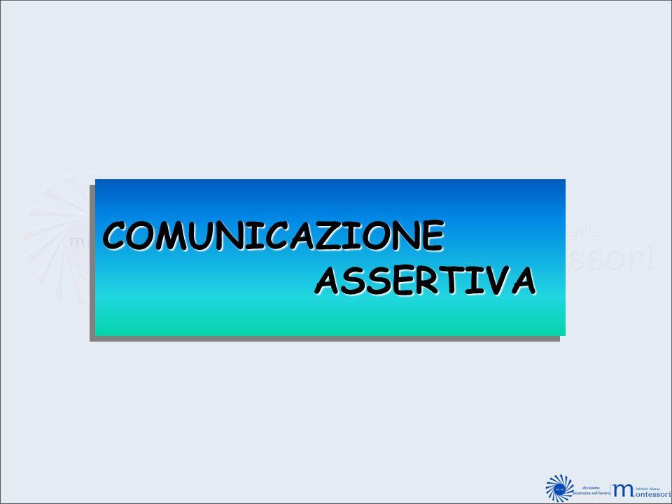 COMUNICAZIONE ASSERTIVA ASSERTIVACOMUNICAZIONE