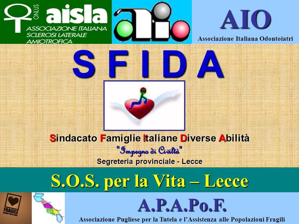 S F I D A S F I D A Sindacato Famiglie Italiane Diverse Abilità