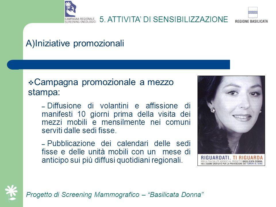 N) Il sistema di spedizione degli inviti Progetto di Screening Mammografico – Basilicata Donna Vantaggi principali: – Consente la spedizione di elevat