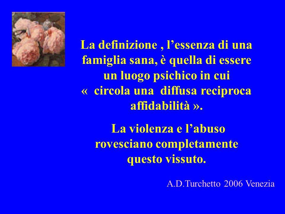 A.D.Turchetto 2006 Venezia La definizione, lessenza di una famiglia sana, è quella di essere un luogo psichico in cui « circola una diffusa reciproca
