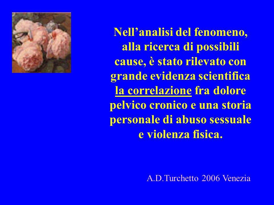 Nellanalisi del fenomeno, alla ricerca di possibili cause, è stato rilevato con grande evidenza scientifica la correlazione fra dolore pelvico cronico