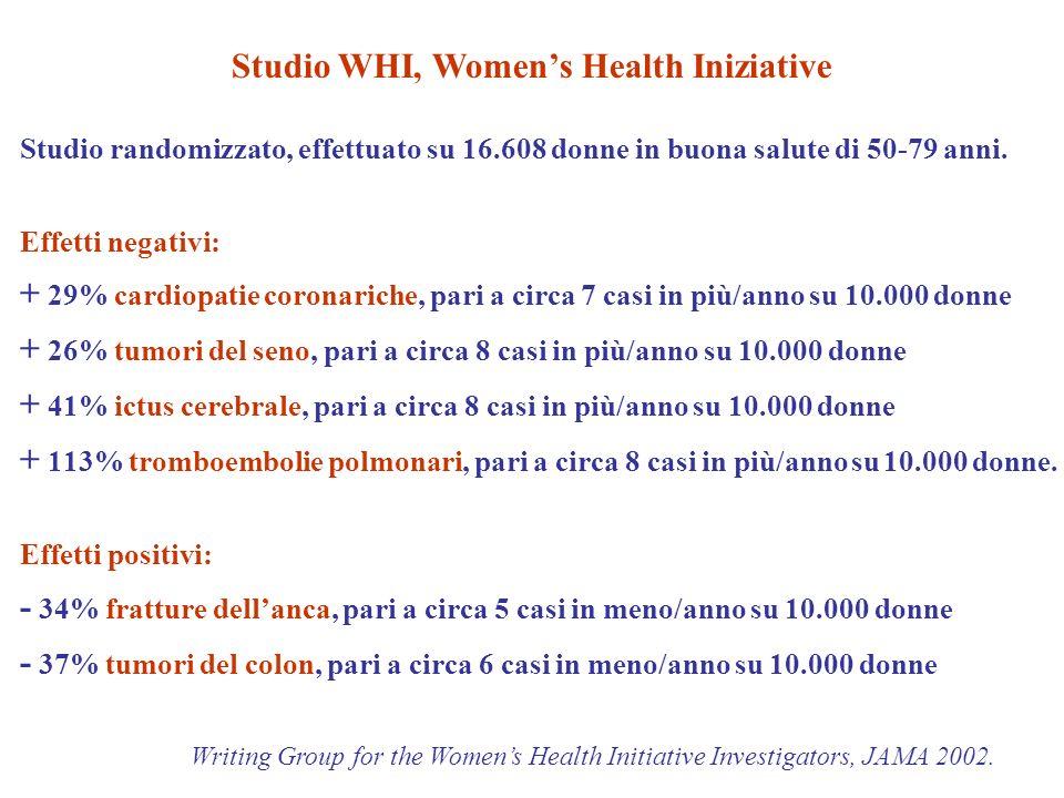 Studio randomizzato, effettuato su 16.608 donne in buona salute di 50-79 anni.
