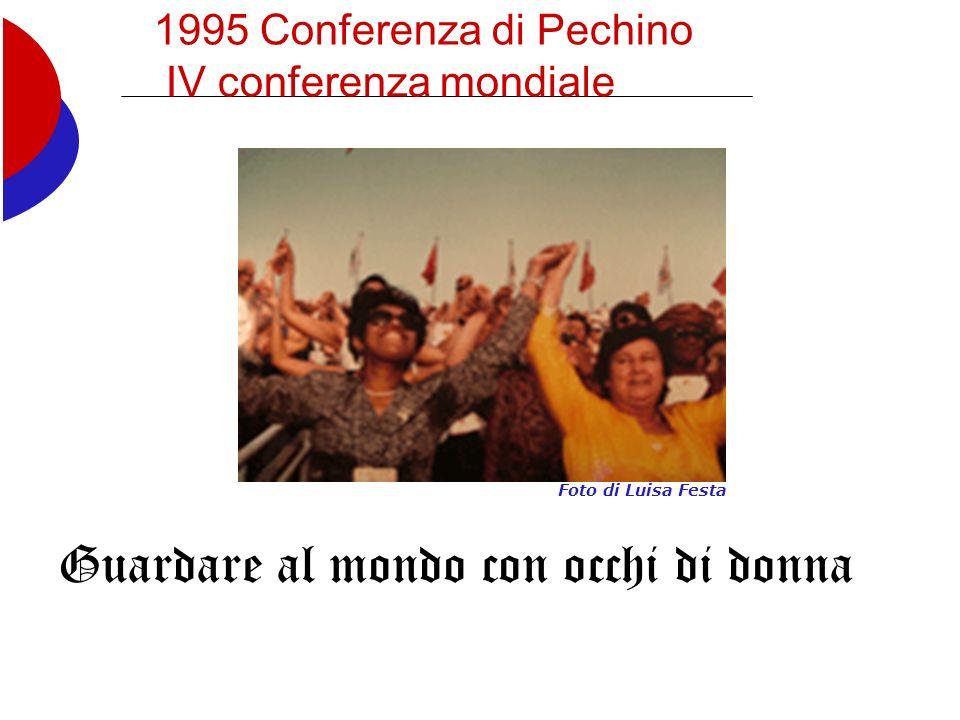 1995 Conferenza di Pechino IV conferenza mondiale Guardare al mondo con occhi di donna Foto di Luisa Festa