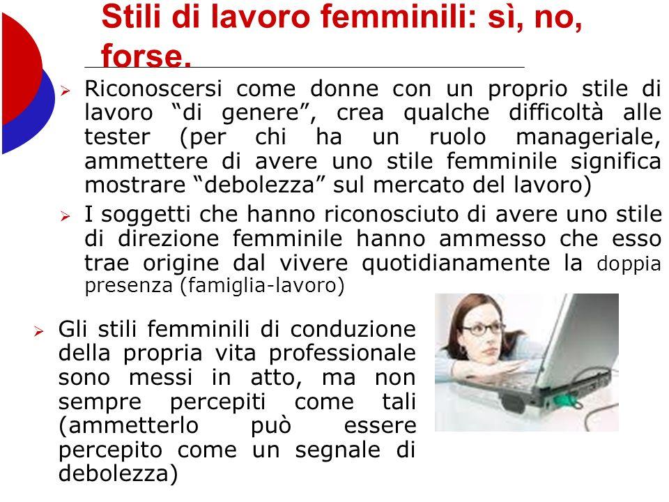 Stili di lavoro femminili: sì, no, forse.