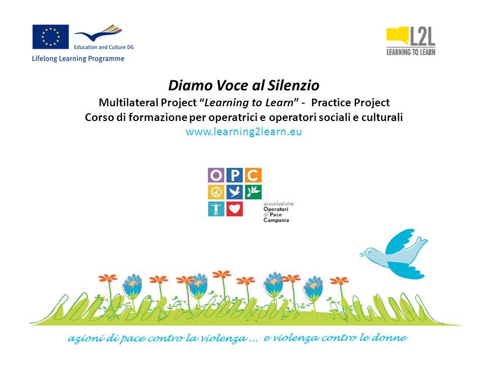 Diamo Voce al Silenzio Multilateral Project Learning to Learn - Practice Project Corso di formazione per operatrici e operatori sociali e culturali www.learning2learn.eu