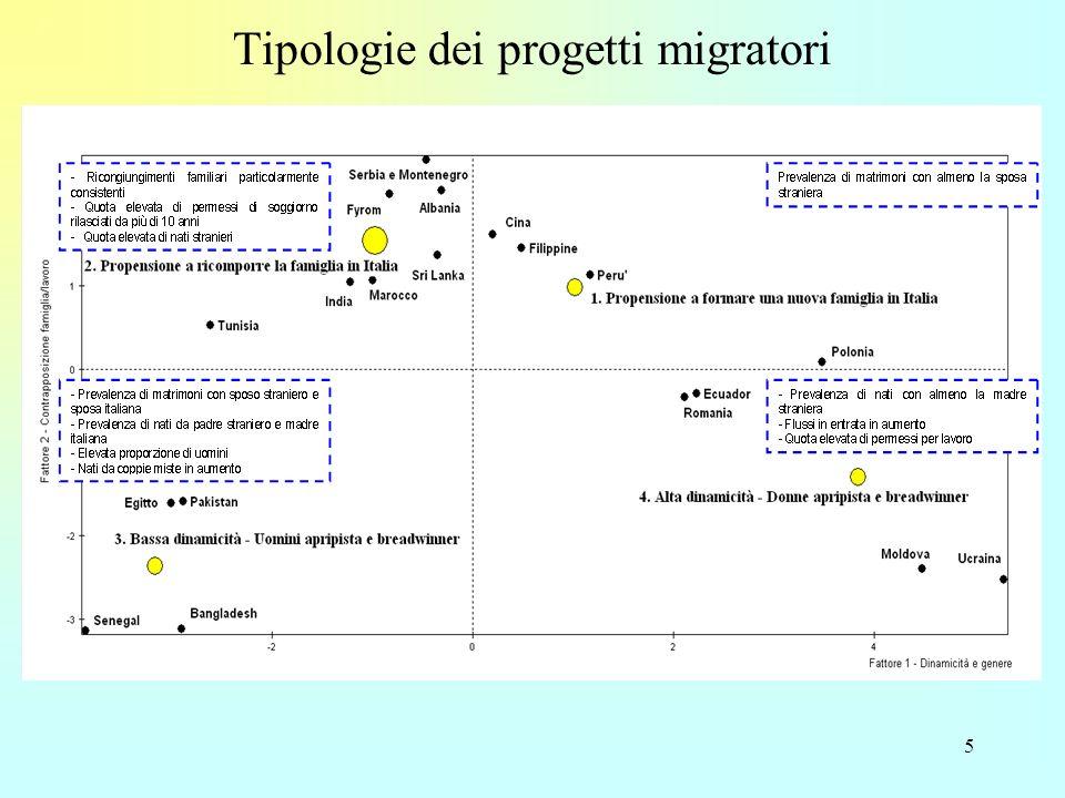 5 Tipologie dei progetti migratori