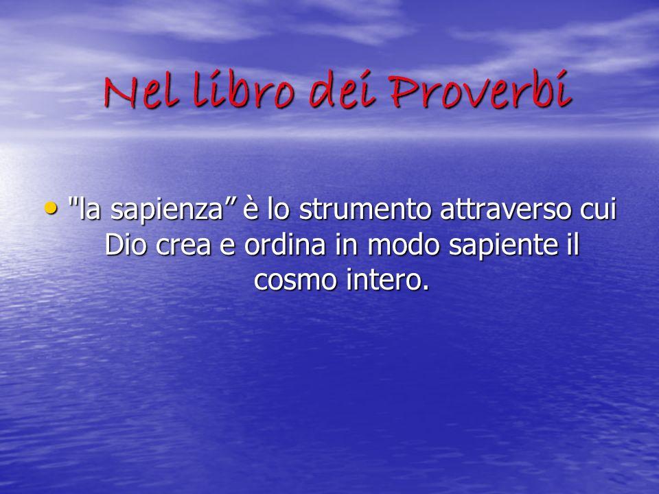 Nel libro dei Proverbi