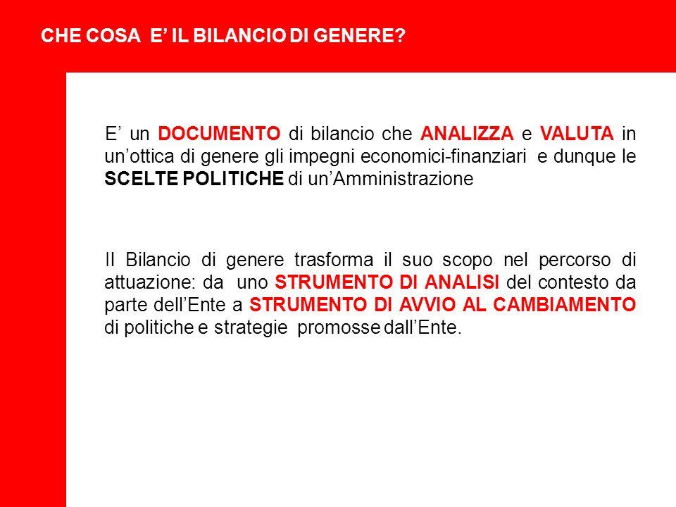 CHE COSA E IL BILANCIO DI GENERE.