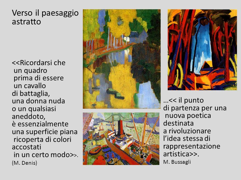 Verso il paesaggio astratto …<< il punto di partenza per una nuova poetica destinata a rivoluzionare lidea stessa di rappresentazione artistica>>. M.