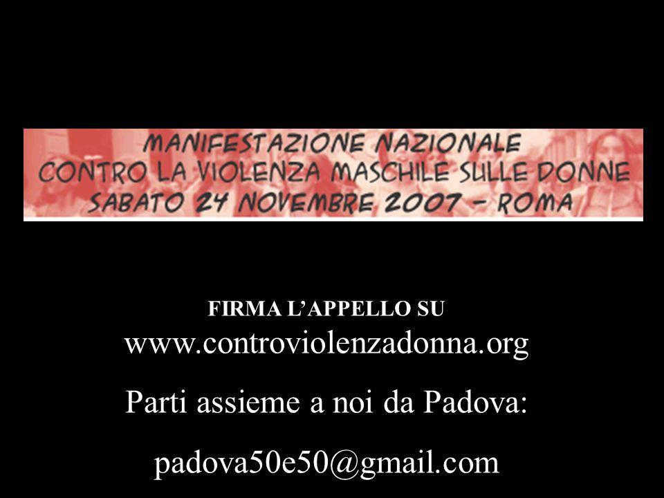 Dai la tua adesione alla campagna 50E50 su… http://padova50e50.megablog.it